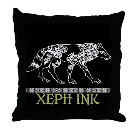 Celtic Wolf Throw Pillow