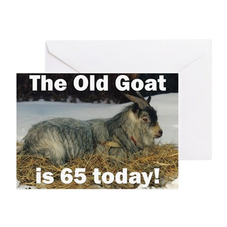 Old Goat is 65 Today Greeting Cards (Pk of 10)