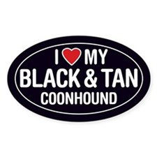 I Love My Black & Tan Coonhound Sticker/Decal-