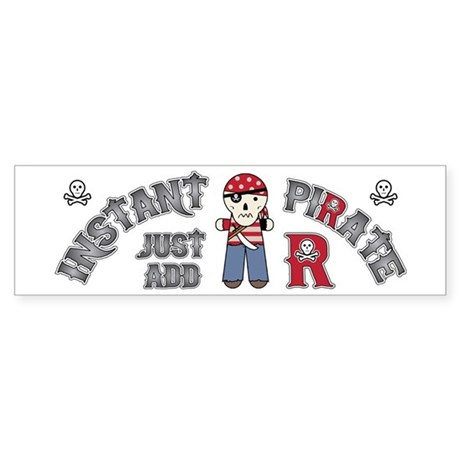 Instant Pirate Sticker (Bumper)