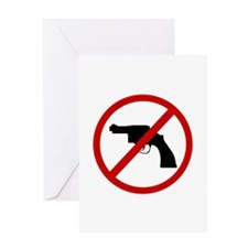 Anti Gun Greeting Card