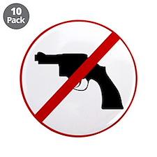 """Anti Gun 3.5"""" Button (10 pack)"""