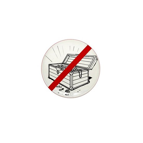 Anti Treasure Mini Button (100 pack)