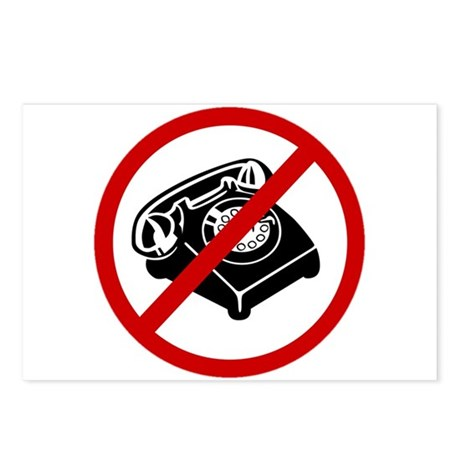 Anti Telephone Postcards (Package of 8)