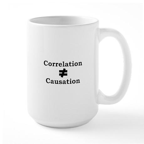 Correlation doesn't equal cau Large Mug