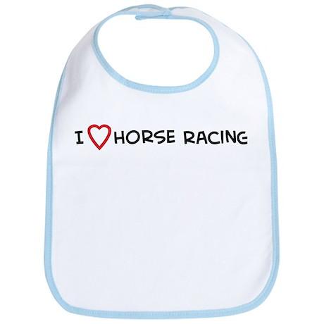 I Love Horse Racing Bib