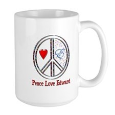 Peace Love Edward Large Mug