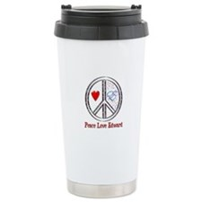 Peace Love Edward Travel Mug