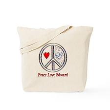 Peace Love Edward Tote Bag