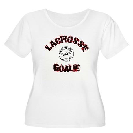 lacrosse Goalie Women's Plus Size Scoop Neck T-Shi