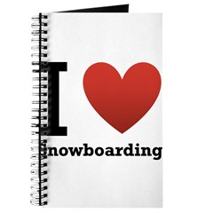 I Love Snowboarding Journal