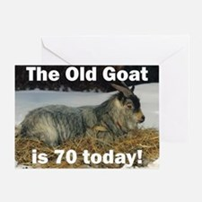 Old Goat is 70 Today Greeting Card
