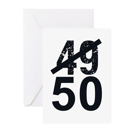 Great 50th Birthday Greeting Cards (Pk of 10)