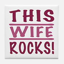 This Wife Rocks Tile Coaster
