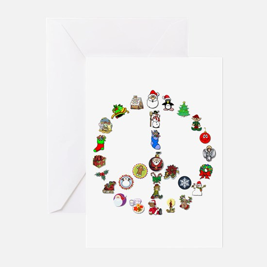 Christmas Peace Sign Greeting Cards (Pk of 20)