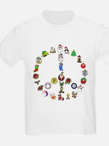 Christmas Peace Sign T-Shirt