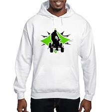 Quad Black and Green Hoodie