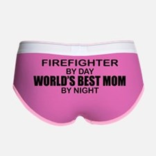 World's Best Mom - FIREFIGHTER Women's Boy Brief