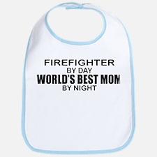 World's Best Mom - FIREFIGHTER Bib