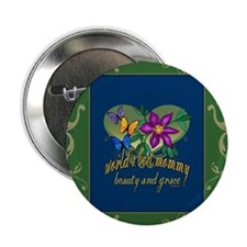 """Beautiful Mommy 2.25"""" Button"""