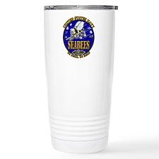 US Navy Seabees We Build, We Fight Travel Mug