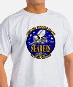 US Navy Seabees We Build, We Fight T-Shirt