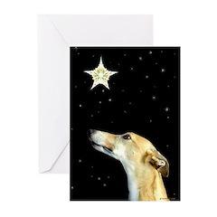 Greyhound Christmas Greeting Cards (Pk of 10)