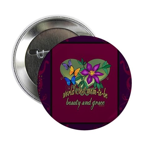 """Beautiful Mom-to-be 2.25"""" Button (10 pack)"""