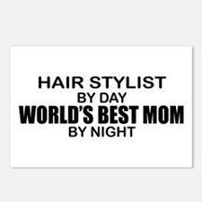 World's Best Mom - HAIR STYLIST Postcards (Package