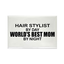 World's Best Mom - HAIR STYLIST Rectangle Magnet