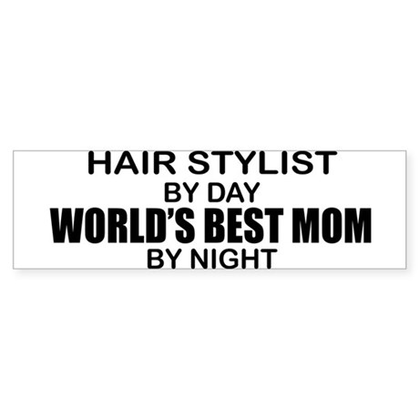 World's Best Mom - HAIR STYLIST Sticker (Bumper)
