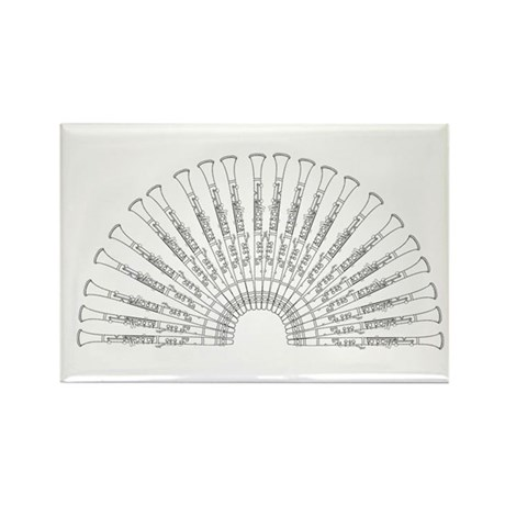 Rectangle Magnet - Clarinet Fan