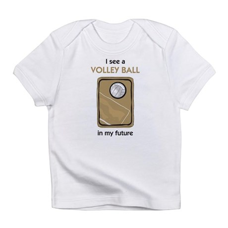 I see a Volley Ball in my Future Creeper Infant T-