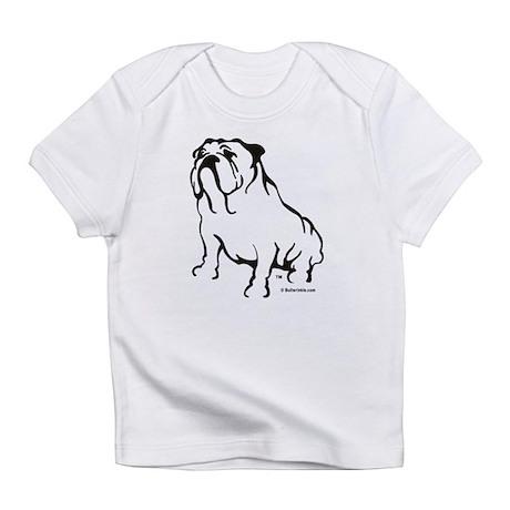 Bulldog Logo Black Infant T-Shirt