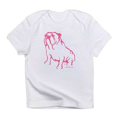 Bulldog Logo Pink Infant T-Shirt