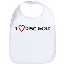 I Love Disc Golf Bib