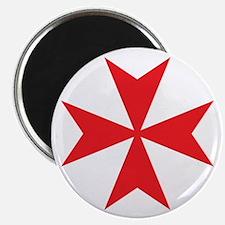 Red Maltese Cross Magnet