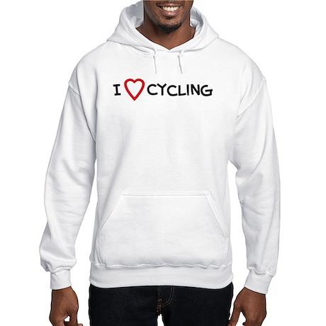 I Love Cycling Hooded Sweatshirt