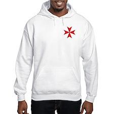 Red Maltese Cross Hoodie