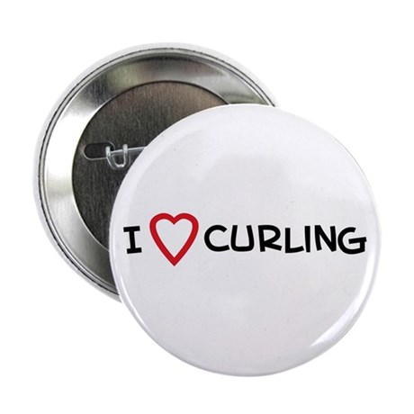 I Love Curling Button