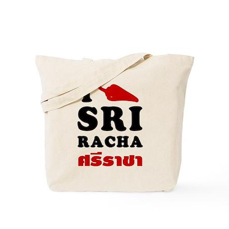 I Love Sriracha Tote Bag