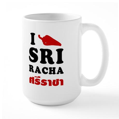 I Love Sriracha Large Mug