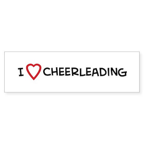 I Love Cheerleading Bumper Sticker