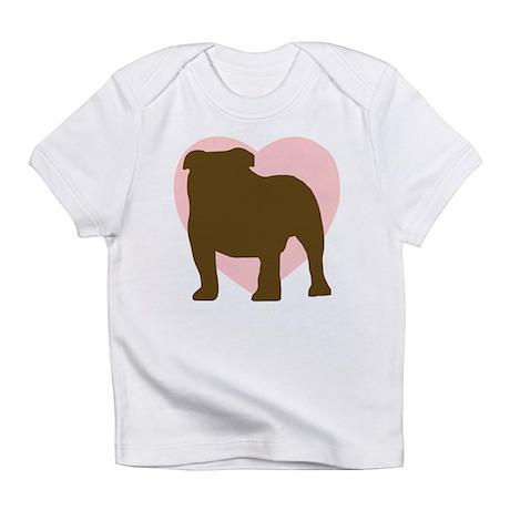 Bulldog Heart Infant T-Shirt