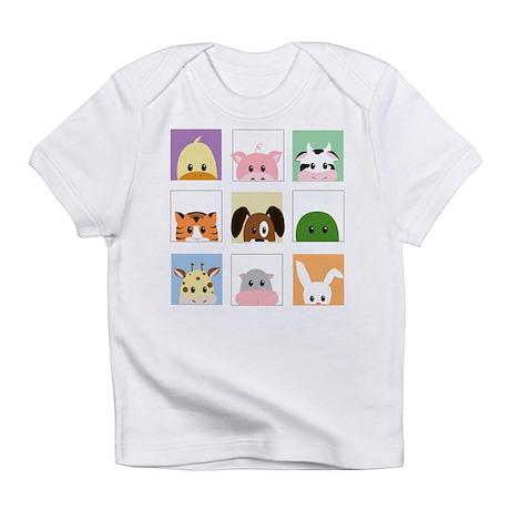 animal squares Infant T-Shirt