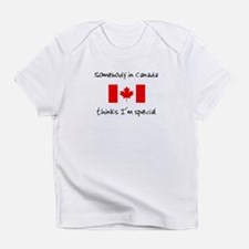 Somebody in Canada creeper Infant T-Shirt