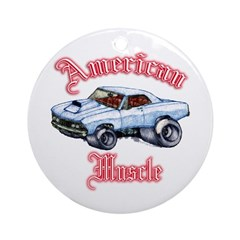 67 Chevelle Ornament (Round)