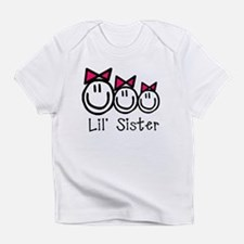 Lil' Sister of Three (Girls) Infant T-Shirt