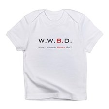 White with Black/Red Infant T-Shirt