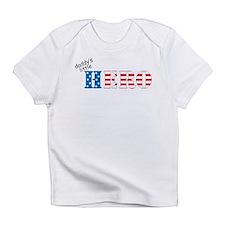 Daddy's Little Hero (flag) - Infant T-Shirt